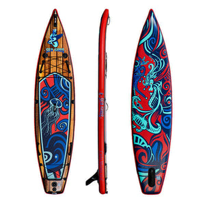 Carta Marina 2021 iSUP ( front, side, and rear views) - Top-rated inflatable paddle board canada