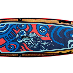 Carta Marina inflatable sup canada - deck pad with high traction EVA pad + custom graphic