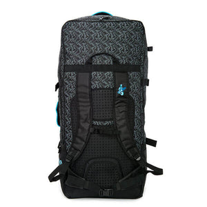 Sea Gods wheeled hiking backpack (rear view).