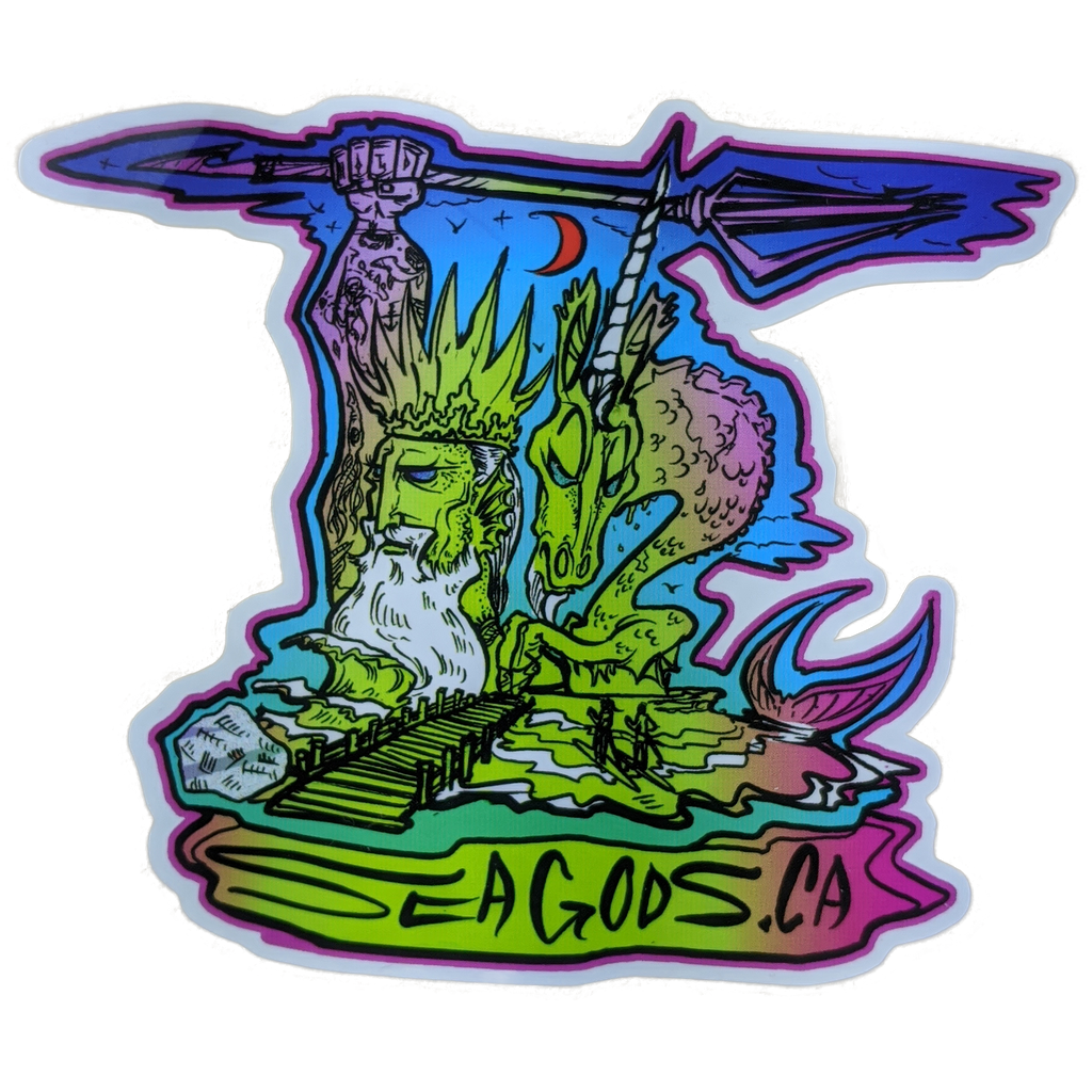 White Rock Sea Gods Sticker