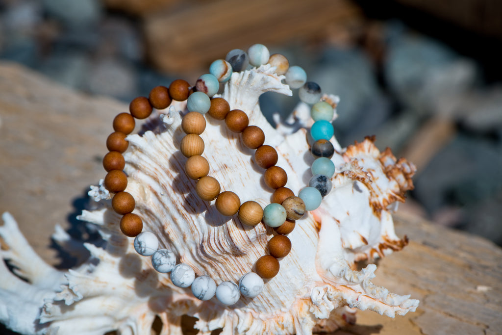 Bracelets for Charity:  Howlite and Sandalwood