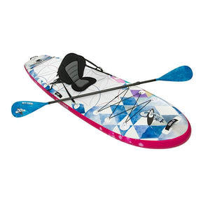 Infinite Mantra 2021 yoga iSUP with kayak seat attachment and 3 piece carbon fiber paddle.
