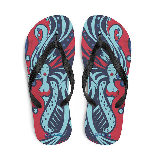 Carta Marina flip flops red & blue