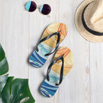 Sea Gods Elemental Wave pattern sandals