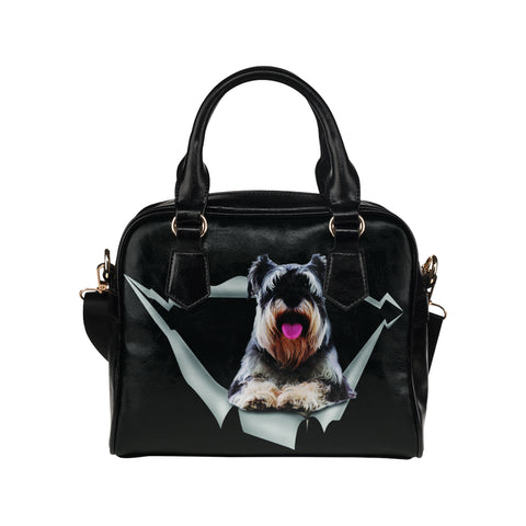Schnauzer Shoulder Handbag