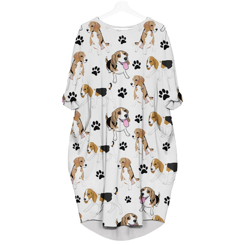 Beagle-Paw - Batwing Pocket Dress