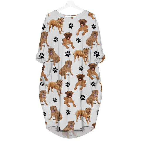 Dogue De Bordeaux-Paw - Batwing Pocket Dress