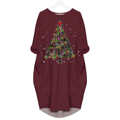 Dutch Shepherd Christmas Tree - Batwing Pocket Dress