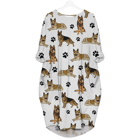 Dutch Shepherd-Paw - Batwing Pocket Dress