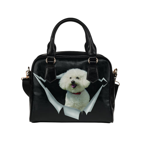 Bichon Frise Shoulder Handbag