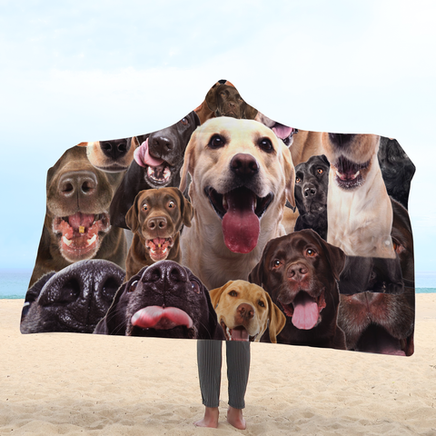 LABRADOR - HOODED BLANKET
