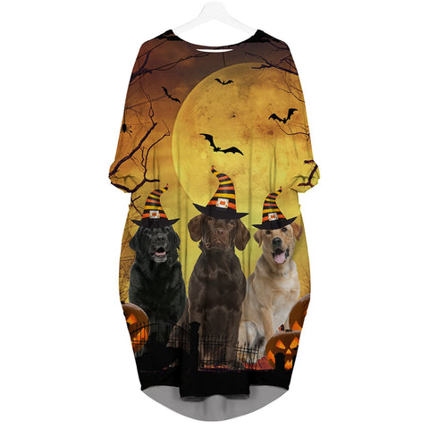 Labrador Retriever Halloween - Batwing Pocket Dress