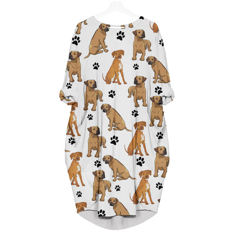 Rhodesian Ridgeback-Paw - Batwing Pocket Dress