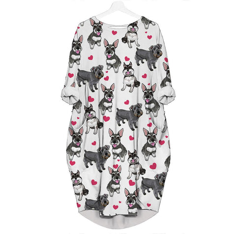Schnauzer-Heart - Batwing Pocket Dress