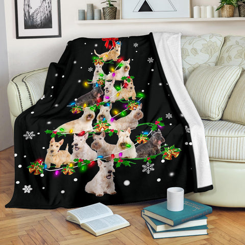 Scottish Terrier Christmas Tree Blanket