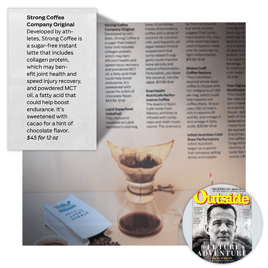 Strong Coffee in Outside Magazine