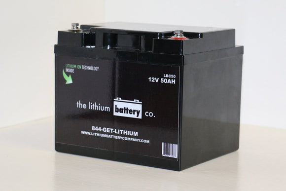 12V 50AH Lithium Ion Battery - Lithium Battery Company - Sea People Depot