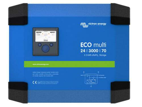 Victron Ecomulti 24/3000/70-50 2,3kwh lifepo4 Inverter Charger - Sea People Depot