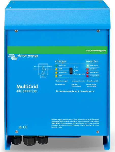 Victron Energy MultiGrid 48/3000/35-50 230V VE.BUS Inverter Charger - Sea People Depot