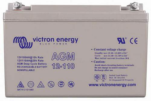 Victron Energy 12V-100Ah AGM Deep Cycle Battery - Sea People Depot