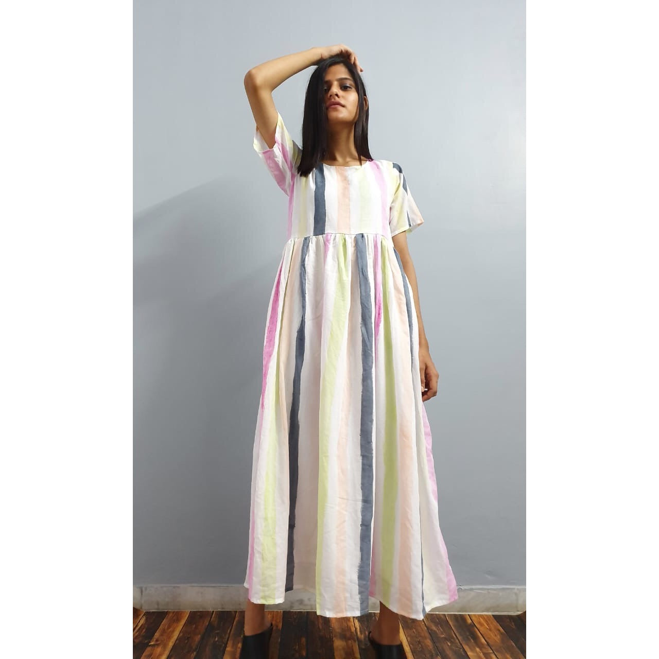 Summer striped maxi
