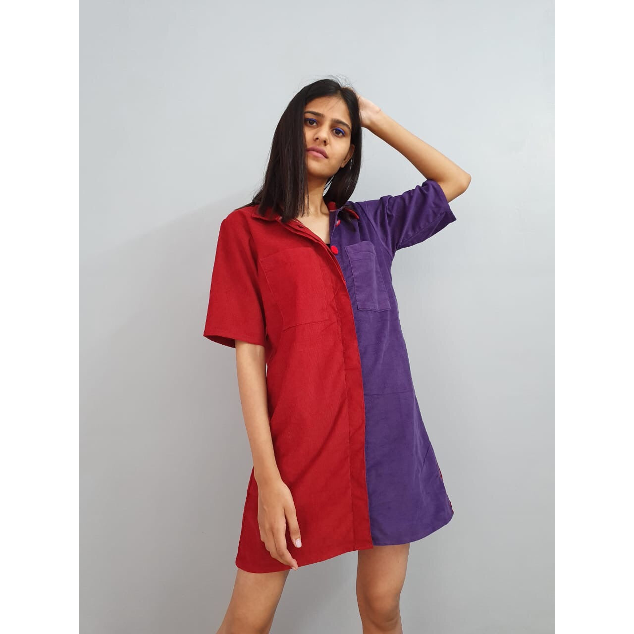 Mix feeling shirt dress