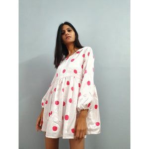 """Red polka club"" dress"