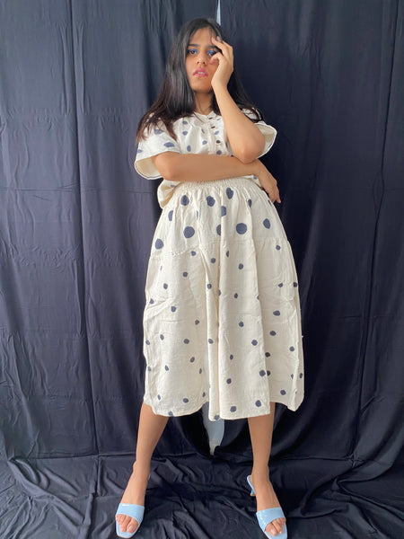 polka shirt and skirt