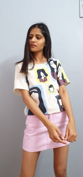 """Faces in the metro"" tee"