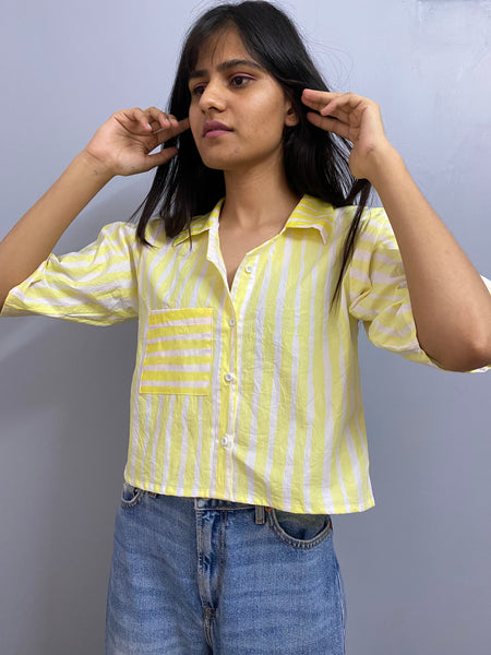 Yellow stripes shirt