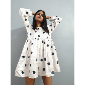 """Black polka club"" dress"