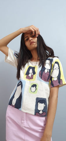 """Faces in the metro"" top"
