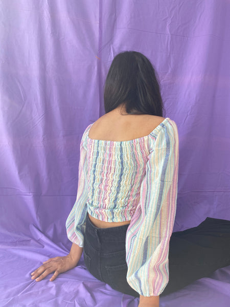Wrapped in pastel top