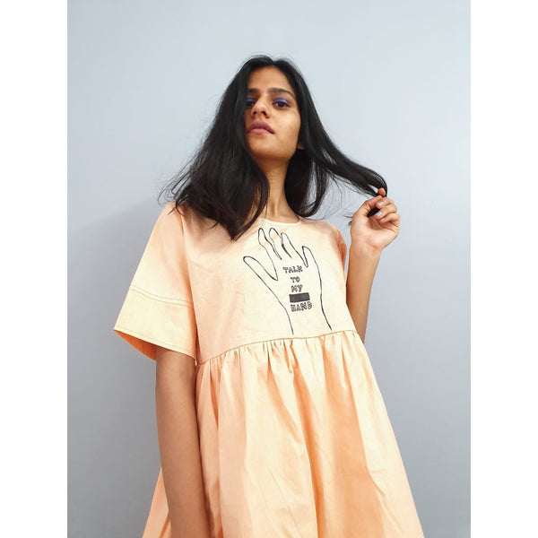 """Talk to my hand"" dress"
