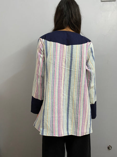 Blue and stripes jacket