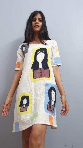Faces in the metro dress