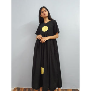 Polka on midnight maxi