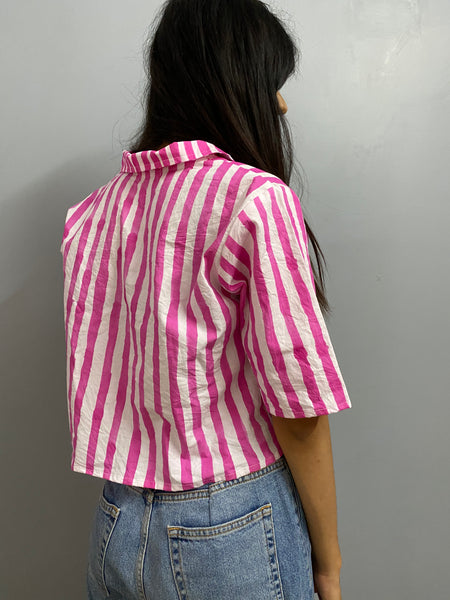 Pink stripes shirt