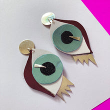 Look into my Eyes - Metallic Blue Earrings
