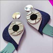 Look into my Eyes - Silver and Blues Earrings