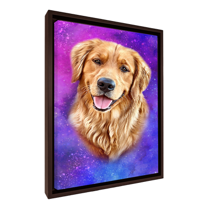 Custom Pet Portrait - 1 Pet – Galaxy - My Pooch Face