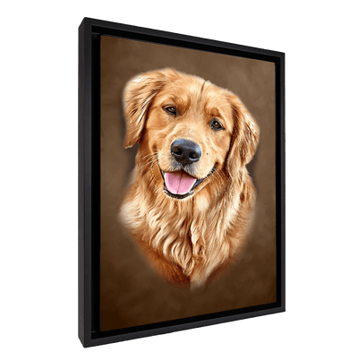 Custom Pet Portrait - 1 Pet – Mocha - My Pooch Face