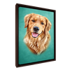 Custom Pet Portrait - 1 Pet – Turquoise - My Pooch Face