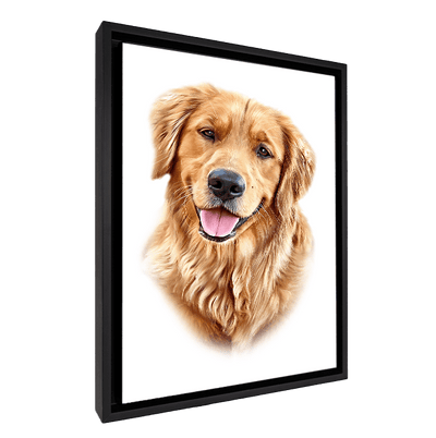 Custom Pet Portrait - 1 Pet – White - My Pooch Face