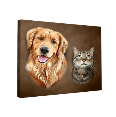 Custom Pet Portrait - 2 Pets - My Pooch Face