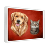 Custom Pet Portrait - 2 Pets – Crimson - My Pooch Face