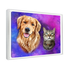 Custom Pet Portrait - 2 Pets – Galaxy - My Pooch Face