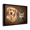 Custom Pet Portrait - 2 Pets – Mocha - My Pooch Face