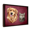 Custom Pet Portrait - 2 Pets – Sangria - My Pooch Face