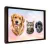 Custom Pet Portrait - 3 Pets – Sunset Clouds - My Pooch Face